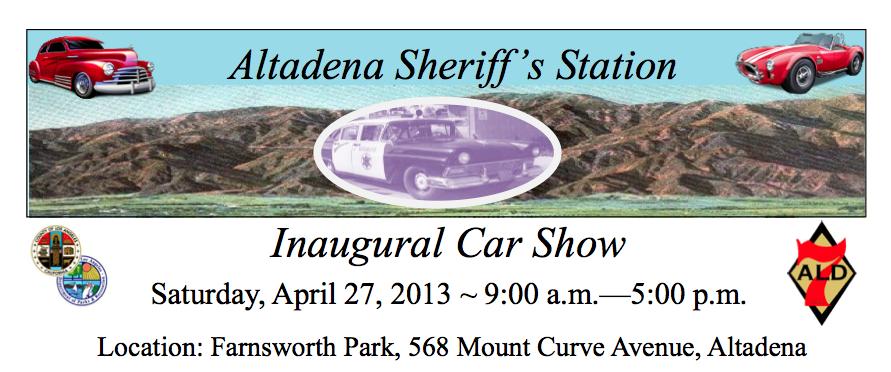 Altadena Sheriff Car Show